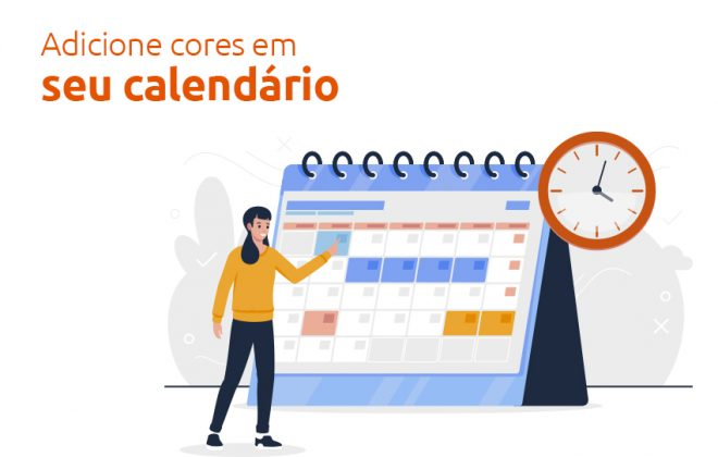 adicionar cores em seu calendário