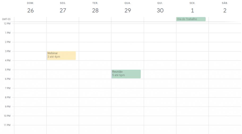 colorir calendario do google passo 3