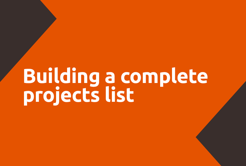 Building a complete projects list